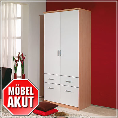 kleiderschrank power schrank berg ahorn wei 91 cm ebay. Black Bedroom Furniture Sets. Home Design Ideas