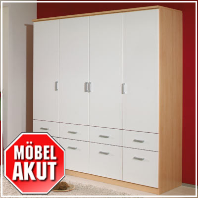 kleiderschrank power schrank berg ahorn wei 181 cm ebay. Black Bedroom Furniture Sets. Home Design Ideas