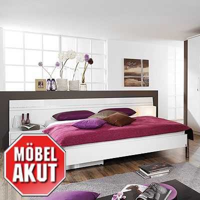 bettanlage biasca bett in wei strass 180 x 200 ebay. Black Bedroom Furniture Sets. Home Design Ideas