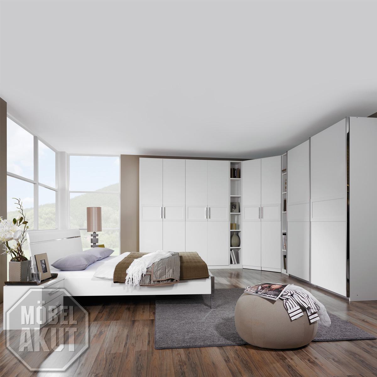 schlafzimmer set perfora in wei eckschrank bett ebay. Black Bedroom Furniture Sets. Home Design Ideas