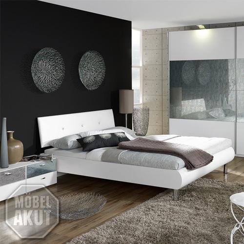 bett calua in wei swarovski steine neu 160x200 ebay. Black Bedroom Furniture Sets. Home Design Ideas