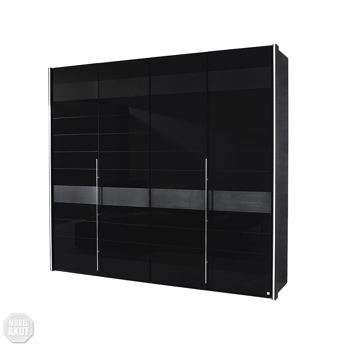 kleiderschrank nala schlafzimmerschrank schrank schwarz glas grau 240 cm ebay. Black Bedroom Furniture Sets. Home Design Ideas