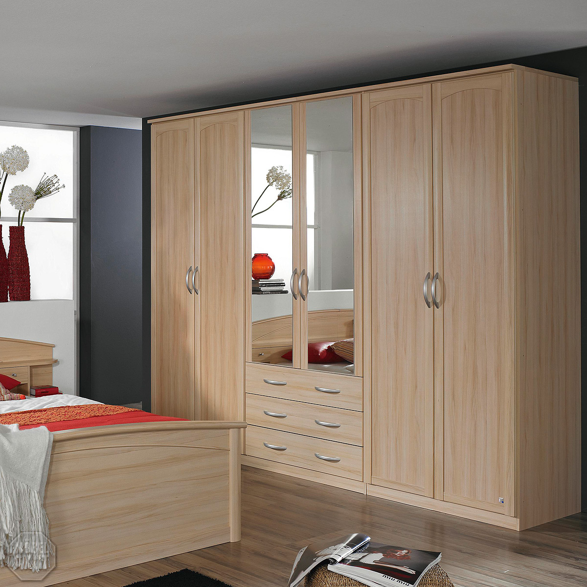 kleiderschrank catania schrank schlafzimmerschrank buche. Black Bedroom Furniture Sets. Home Design Ideas