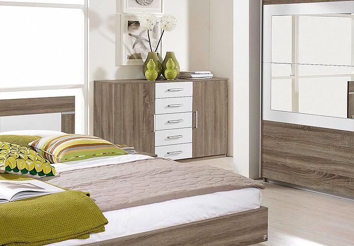 kommode venlo sideboard in havanna eiche wei dekor 5. Black Bedroom Furniture Sets. Home Design Ideas
