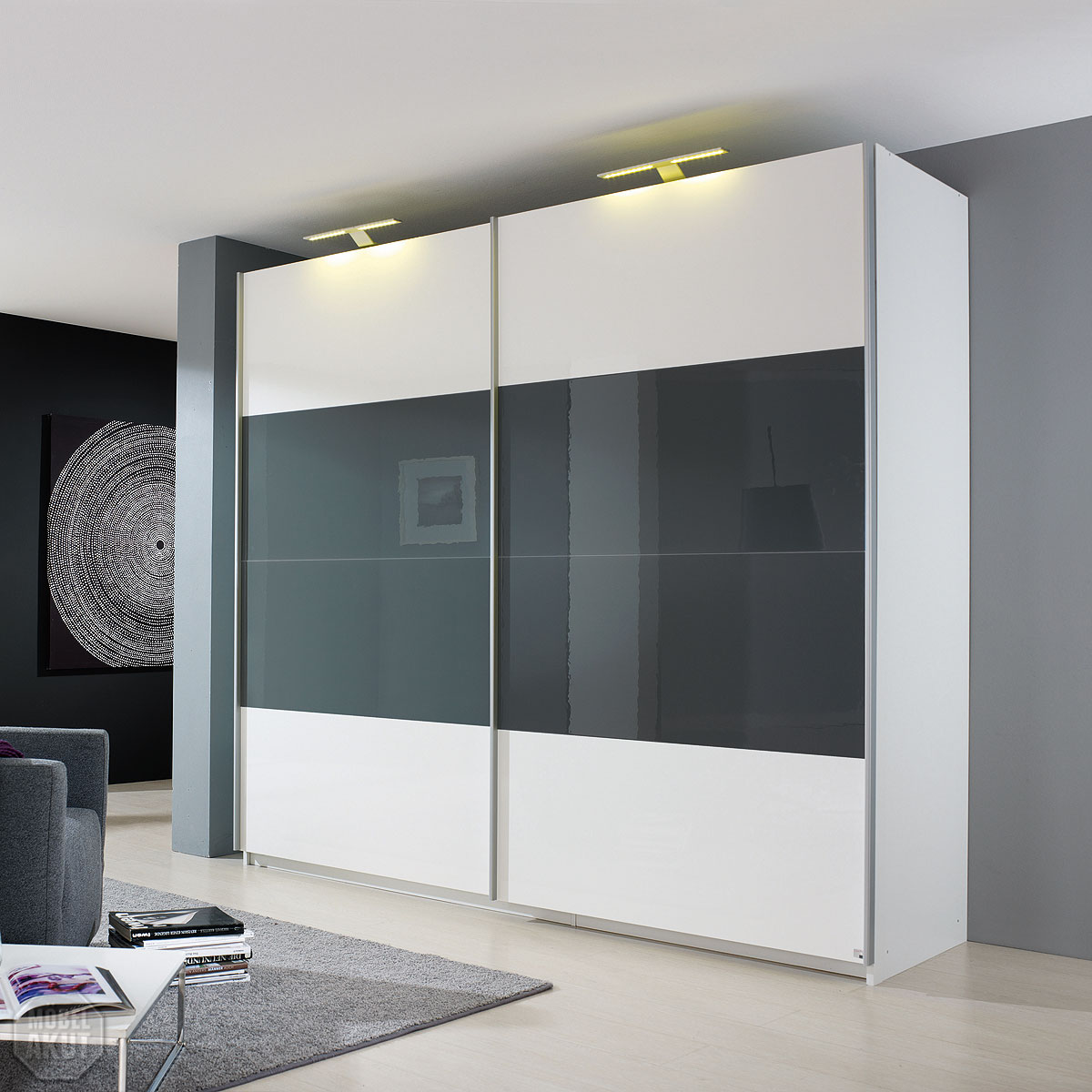 schwebet renschrank beluga base schrank wei grau hochglanz gr enwahl ebay. Black Bedroom Furniture Sets. Home Design Ideas