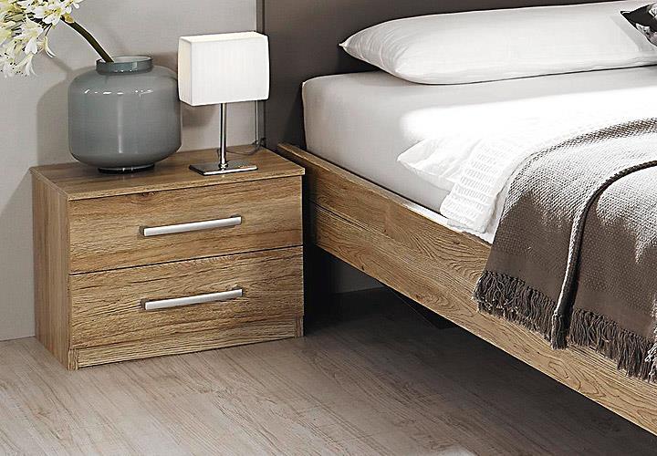 schlafzimmer set borba bett nakos kleiderschrank eiche sanremo hell lavagrau. Black Bedroom Furniture Sets. Home Design Ideas