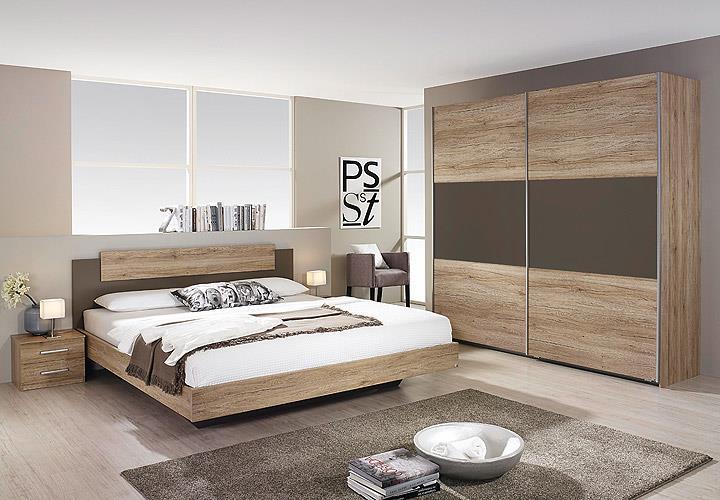 schlafzimmer borba bett nakos kleiderschrank eiche sanremo hell lavagrau eur 409 95 picclick de. Black Bedroom Furniture Sets. Home Design Ideas