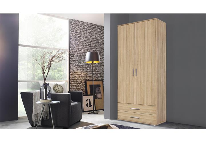 kleiderschrank rasant schrank eiche sonoma b 85 cm. Black Bedroom Furniture Sets. Home Design Ideas