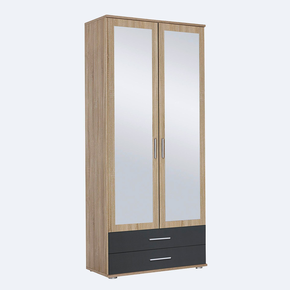 kleiderschrank rasant extra schrank eiche sonoma grau metallic b 85 cm ebay. Black Bedroom Furniture Sets. Home Design Ideas