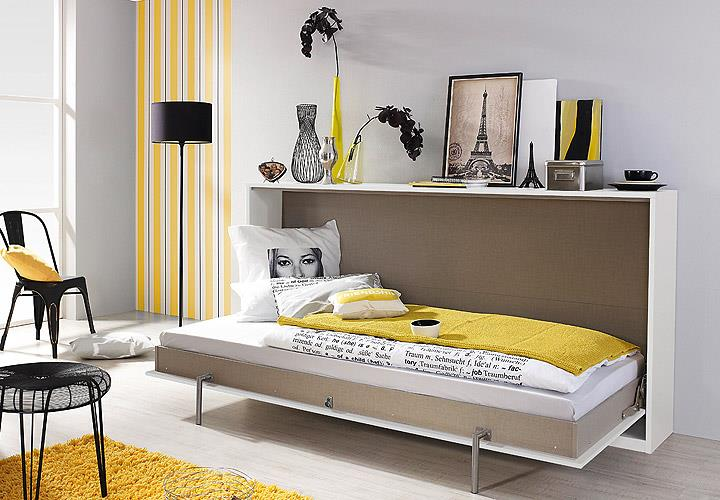 klappbett albero g stebett bett querklappbett wei 90x200 cm ebay. Black Bedroom Furniture Sets. Home Design Ideas