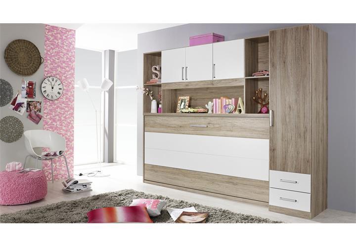 schrankbett set albero kleiderschrank regal 90x200cm 4. Black Bedroom Furniture Sets. Home Design Ideas