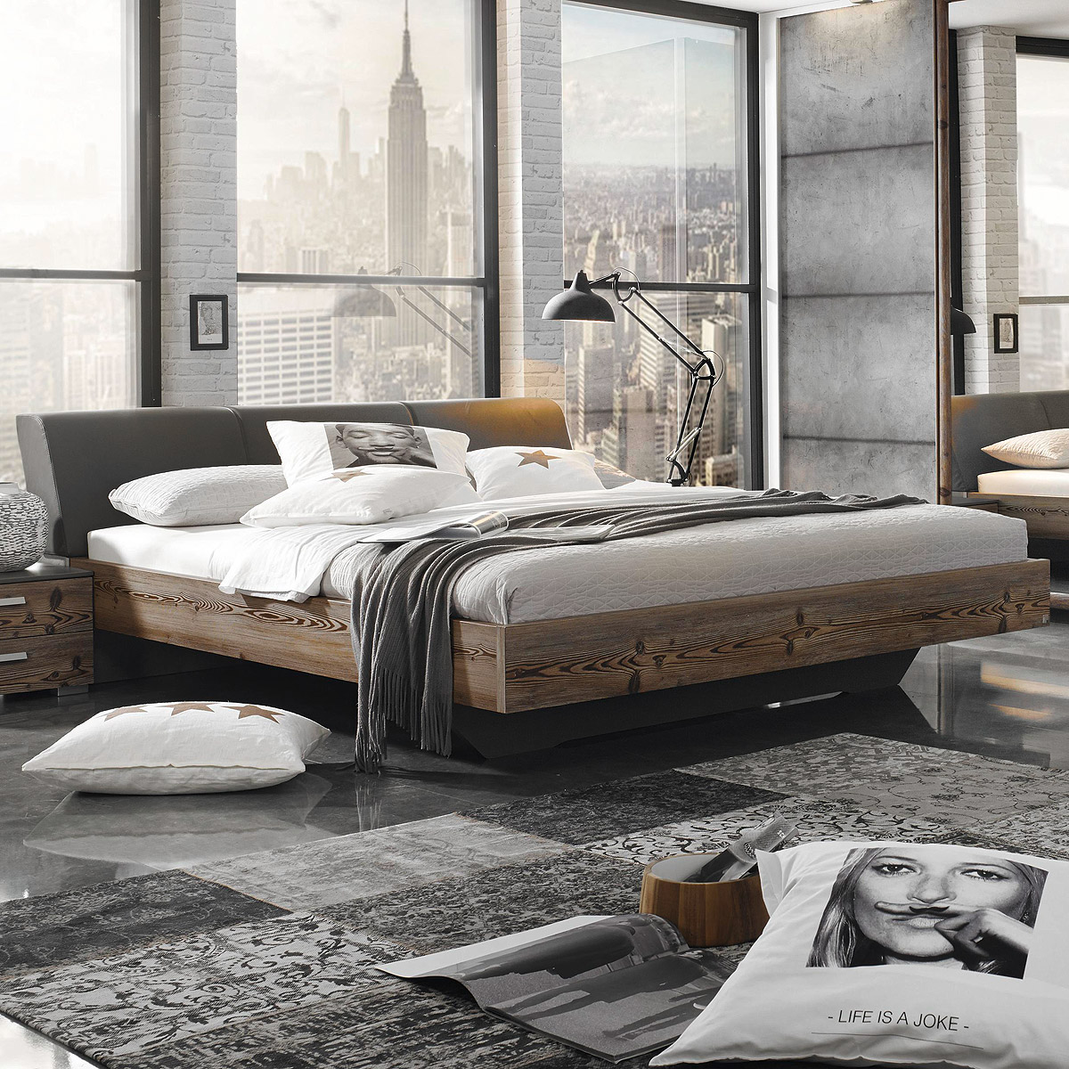 bett streetway schlafzimmer doppelbett l rche natur. Black Bedroom Furniture Sets. Home Design Ideas