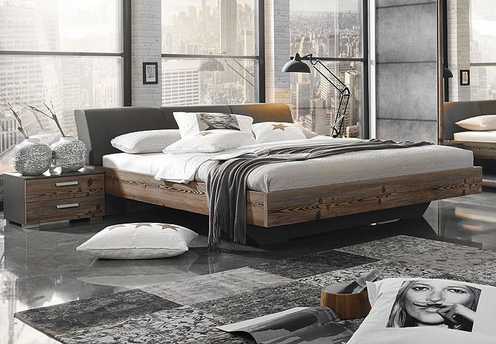 Schlafzimmer Set Streetway Kleiderschrank Bett Nakos Laerche Basalt