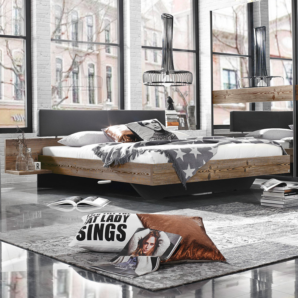 bett montreal schlafzimmer doppelbett l rche natur. Black Bedroom Furniture Sets. Home Design Ideas