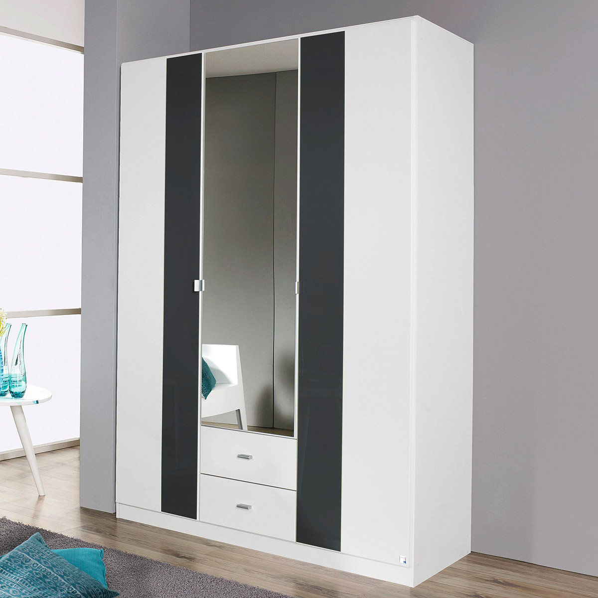 kleiderschrank dortmund schrank wei glasauflage basalt b 136 cm. Black Bedroom Furniture Sets. Home Design Ideas