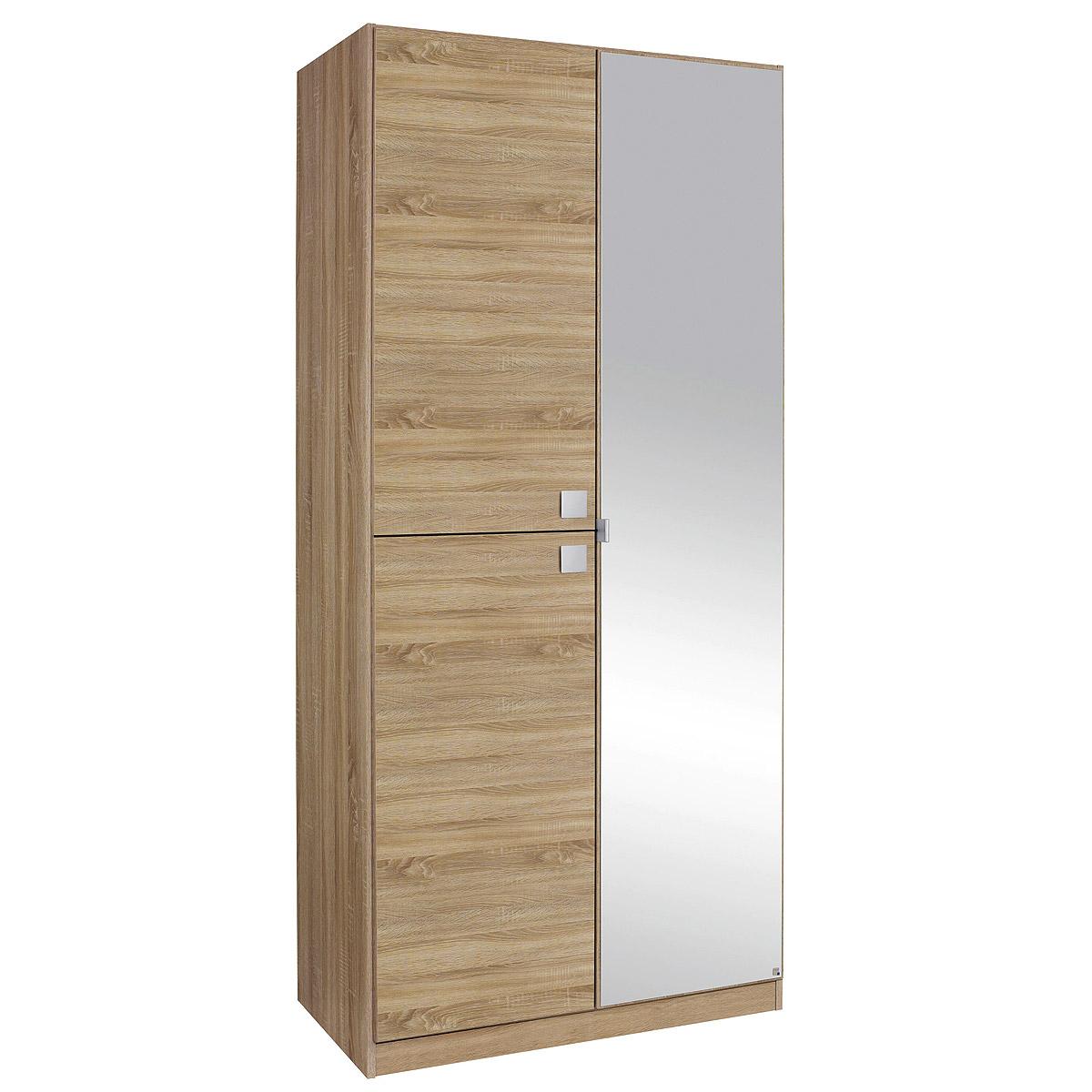 Kleiderschrank caria schrank eiche sonoma mit spiegel b 91 cm for Schrank eiche sonoma