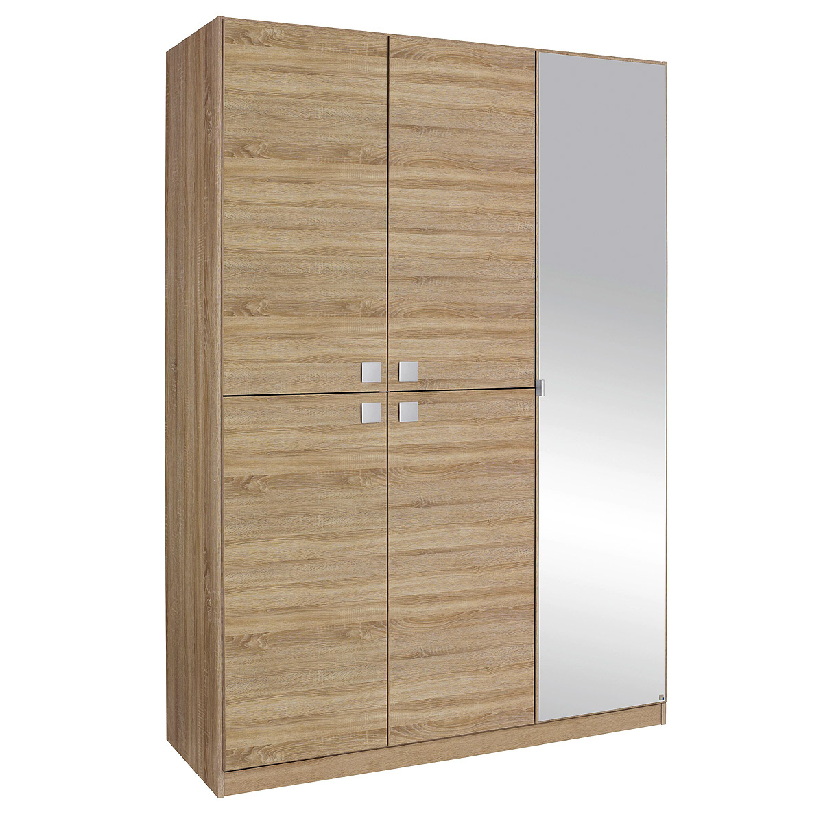 kleiderschrank caria schrank eiche sonoma mit spiegel b 136 cm ebay. Black Bedroom Furniture Sets. Home Design Ideas