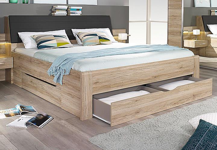 schlafzimmer set bensheim bettanlage kleiderschrank eiche sanremo hell ebay. Black Bedroom Furniture Sets. Home Design Ideas
