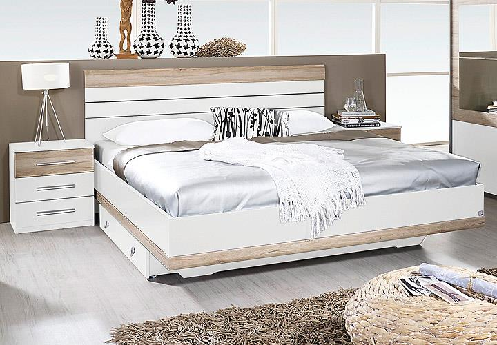 schlafzimmer set tarragona bett nakos kleiderschrank wei eiche sanremo hell 180 eur 628 95. Black Bedroom Furniture Sets. Home Design Ideas