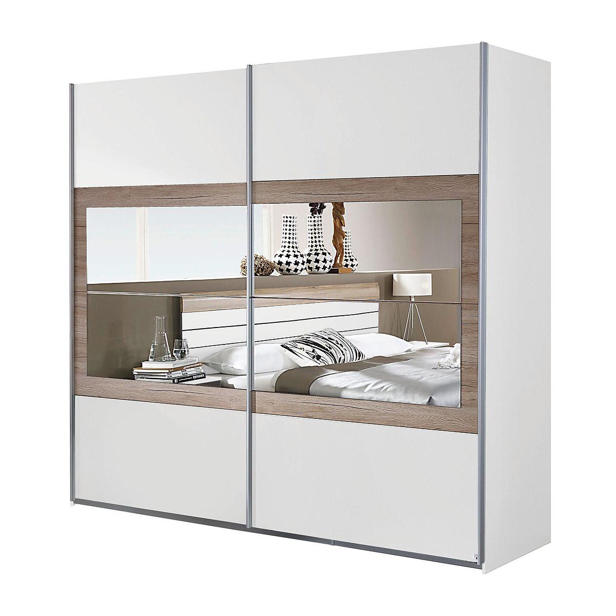 schwebet renschrank tarragona schlafzimmer kleiderschrank 2 t rig mit spiegel ebay. Black Bedroom Furniture Sets. Home Design Ideas