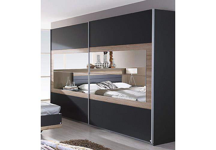 Schwebetürenschrank Tarragona Schlafzimmer Kleiderschrank 2-türig ...