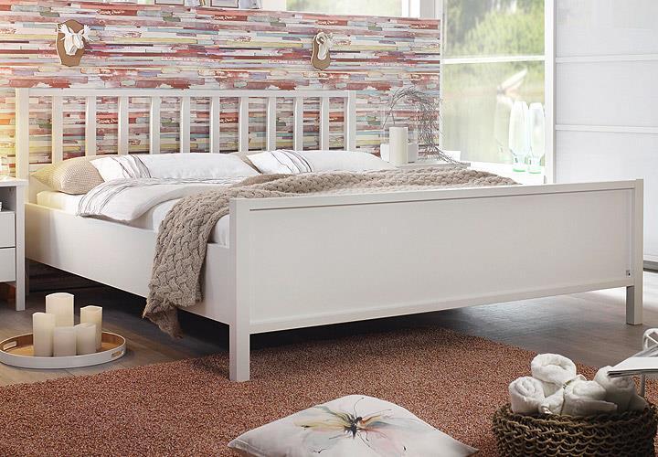 bett marit doppelbett schlafzimmer wei kopfteil mit sprossen 180x200 cm ebay. Black Bedroom Furniture Sets. Home Design Ideas