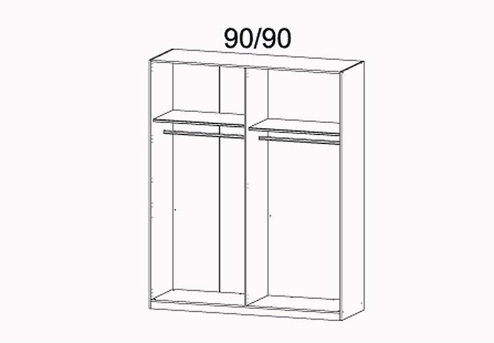 kleiderschrank marit schrank mit spiegel schlafzimmer wei breite 181 cm eur 499 95 picclick de. Black Bedroom Furniture Sets. Home Design Ideas