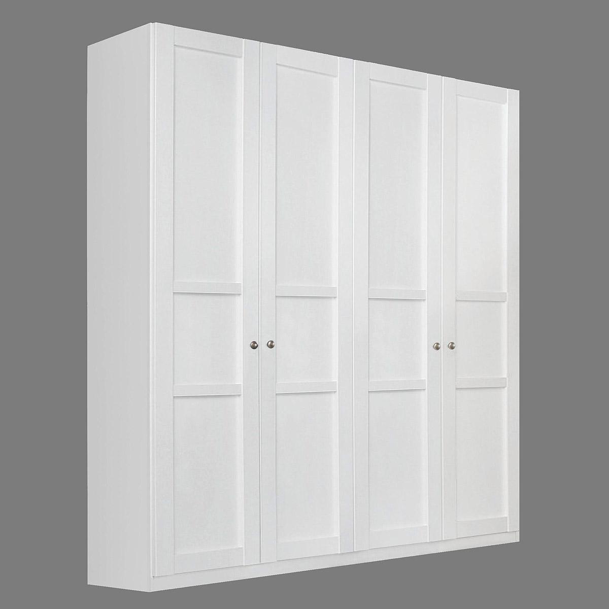 kleiderschrank marit schrank schlafzimmer wei mit 4 t ren breite 181 cm. Black Bedroom Furniture Sets. Home Design Ideas