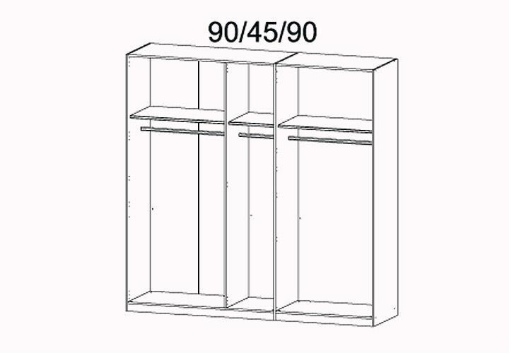 kleiderschrank marit schrank mit spiegel schlafzimmer wei breite 225 cm. Black Bedroom Furniture Sets. Home Design Ideas