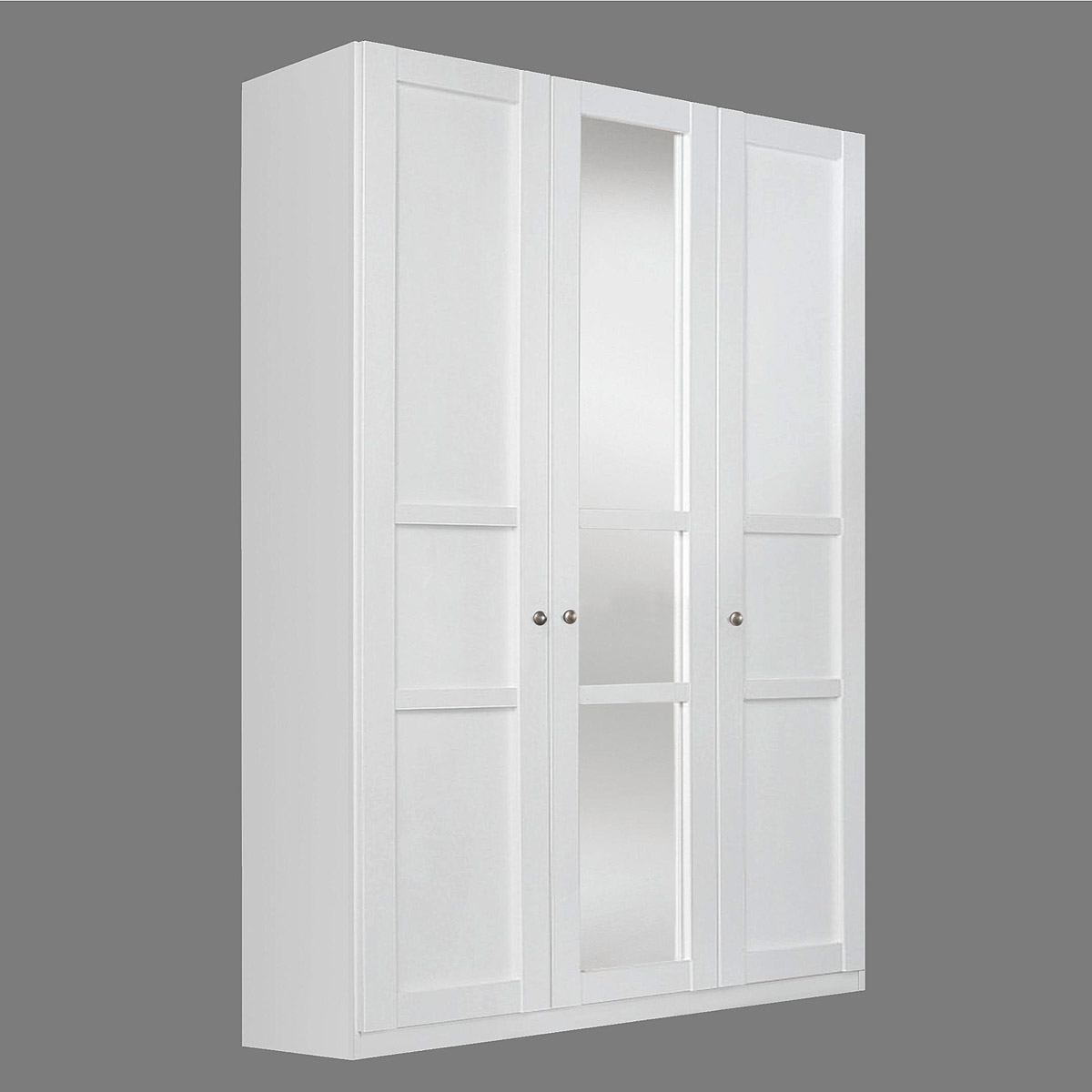 kleiderschrank marit schrank mit spiegel schlafzimmer wei breite 136 cm ebay. Black Bedroom Furniture Sets. Home Design Ideas