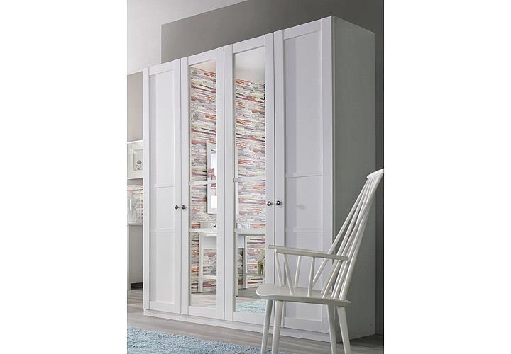 kleiderschrank marit schrank mit spiegel schlafzimmer wei breite 181 cm ebay. Black Bedroom Furniture Sets. Home Design Ideas