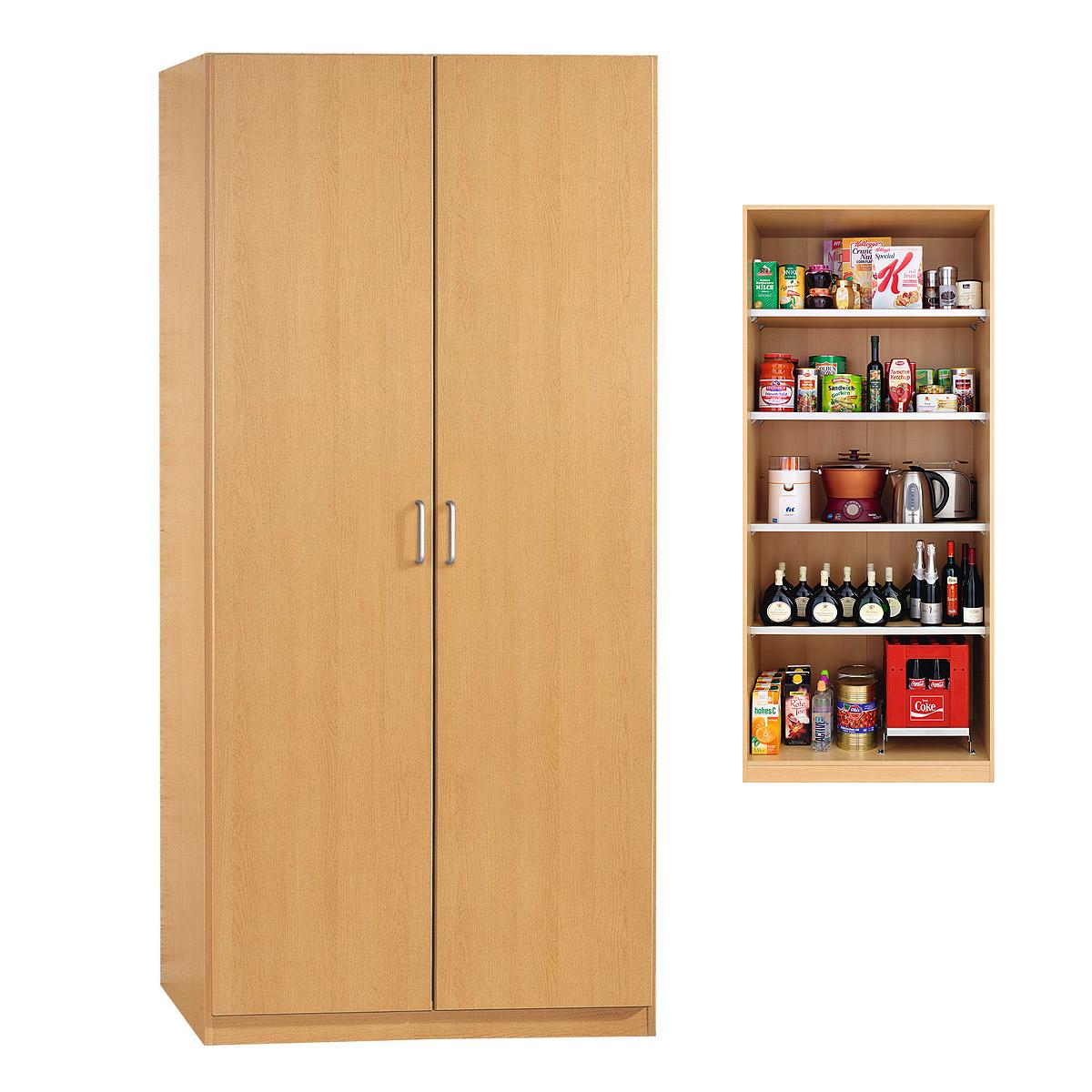 vorratsschrank prima 4you kleiderschrank schrank garderobe buche hell ebay. Black Bedroom Furniture Sets. Home Design Ideas