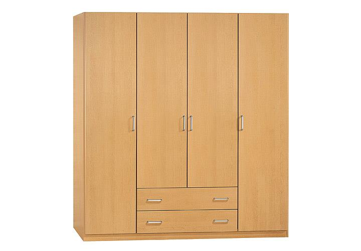 kleiderschrank prima 4you schrank garderobe buche hell b 181 cm ebay. Black Bedroom Furniture Sets. Home Design Ideas