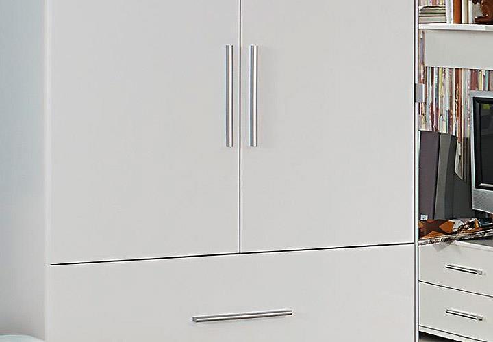 kleiderschrank manja kinderzimmer jugendzimmer wei hochglanz b 136 cm eur 279 95 picclick de. Black Bedroom Furniture Sets. Home Design Ideas