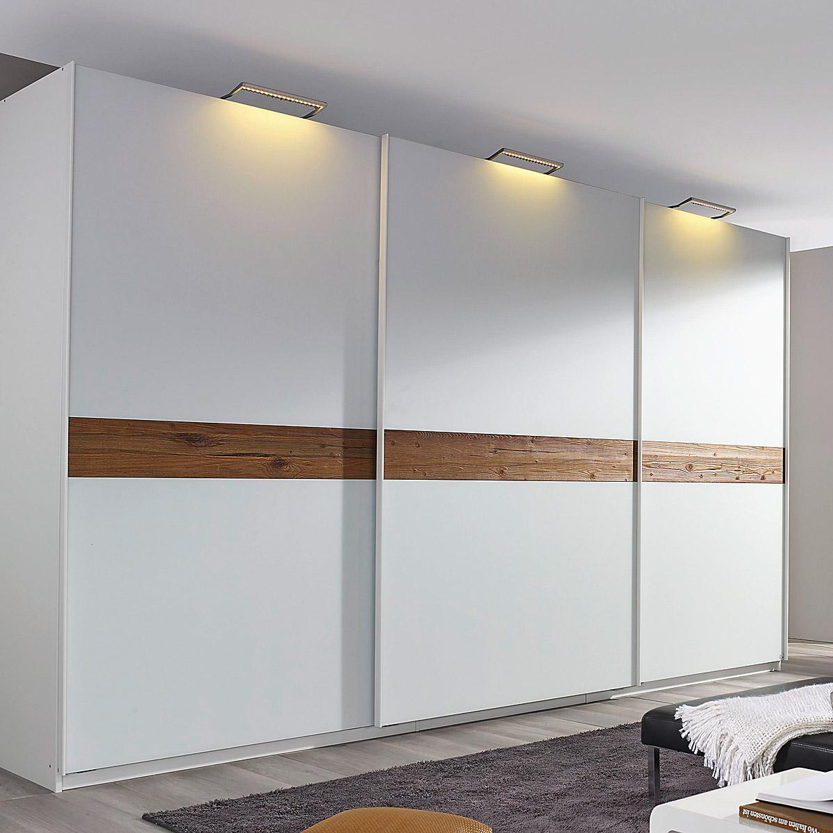 kleiderschrank bayamo schwebet renschrank glas matt wei wildeiche natur b 315 ebay. Black Bedroom Furniture Sets. Home Design Ideas