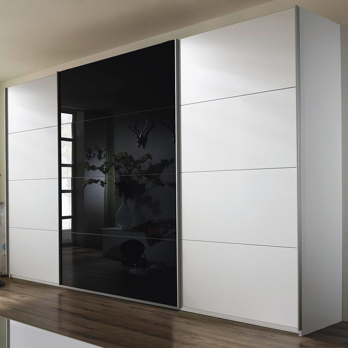 schwebet renschrank quadra kleiderschrank in wei und glas. Black Bedroom Furniture Sets. Home Design Ideas