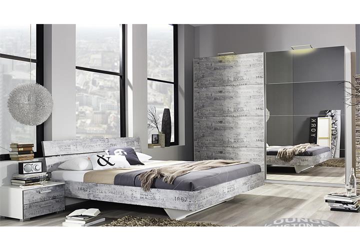 Schlafzimmer sumatra extra bett kleiderschrank nachttisch alpinwei vintage grau ebay - Schlafzimmer vintage ...