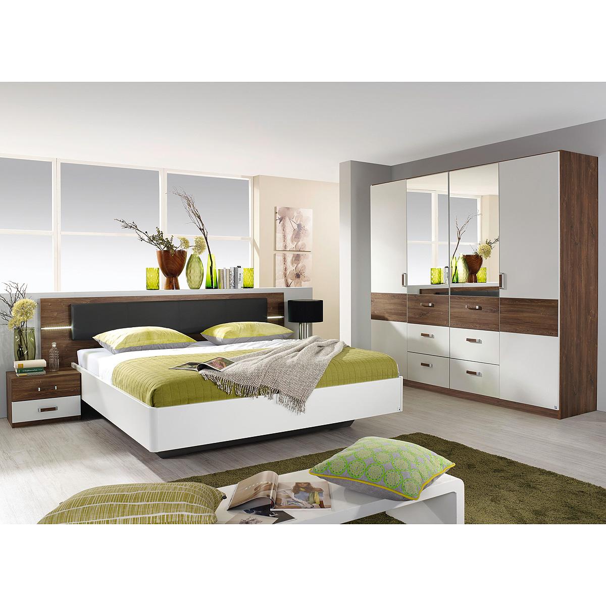 Schlafzimmer Leimen Schlafzimmerset Bett Schrank Nako in weiß ...
