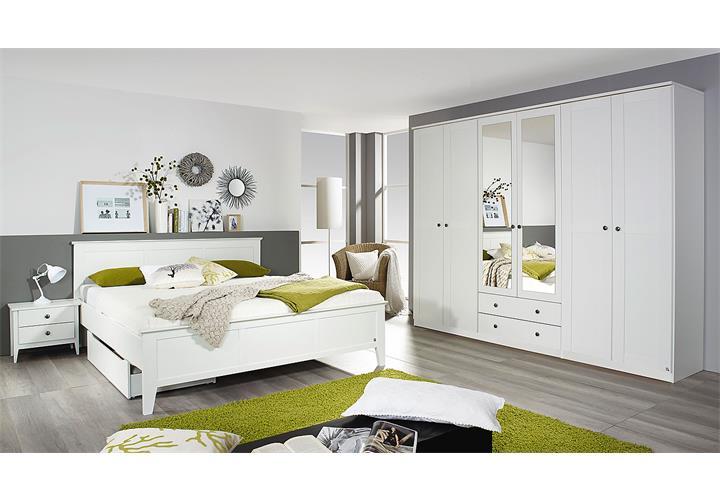 bett rosenheim schlafzimmerbett bettgestell doppelbett in wei 160x200 ebay. Black Bedroom Furniture Sets. Home Design Ideas