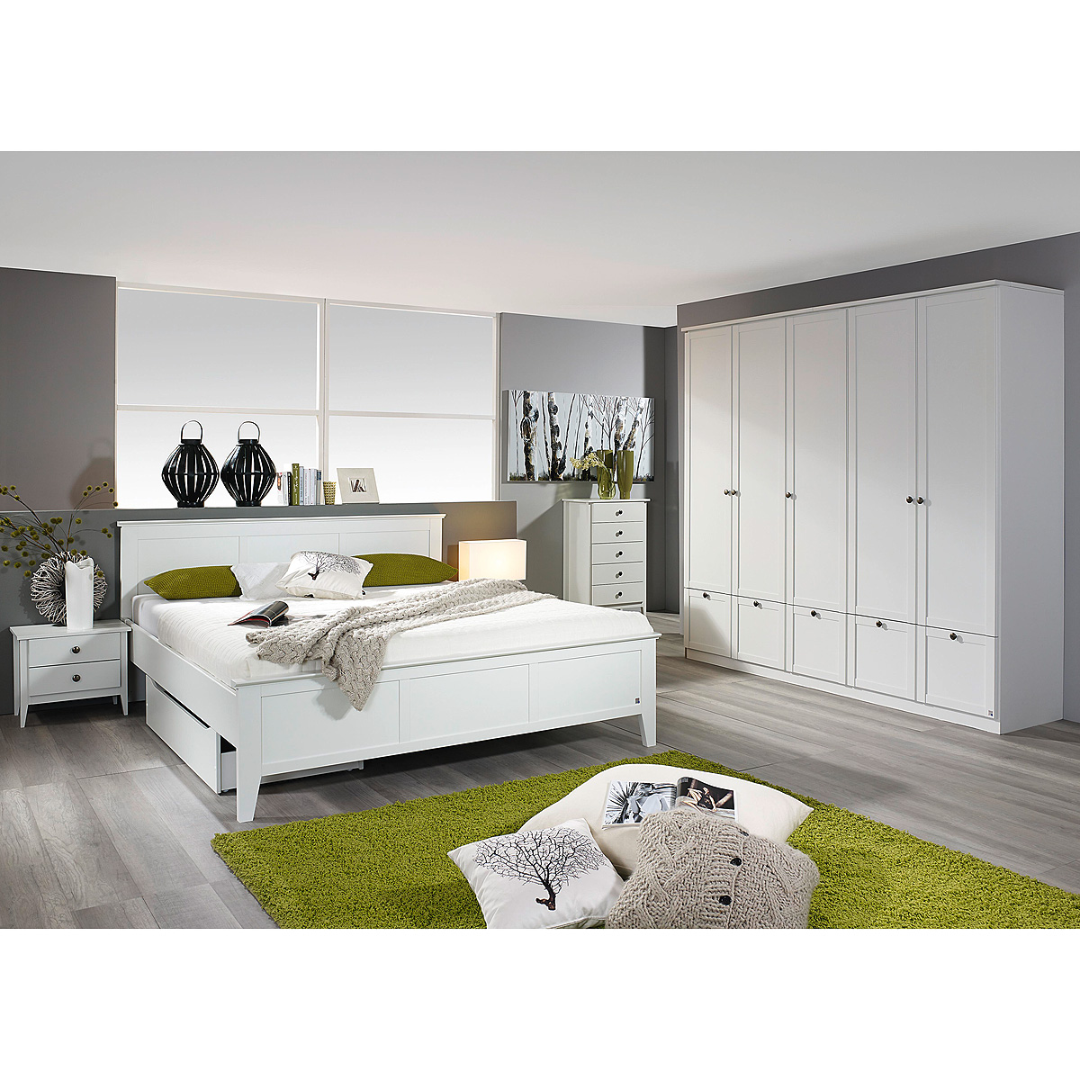 schlafzimmer rosenheim gera schlafzimmerset bett schrank nachttisch in wei ebay. Black Bedroom Furniture Sets. Home Design Ideas