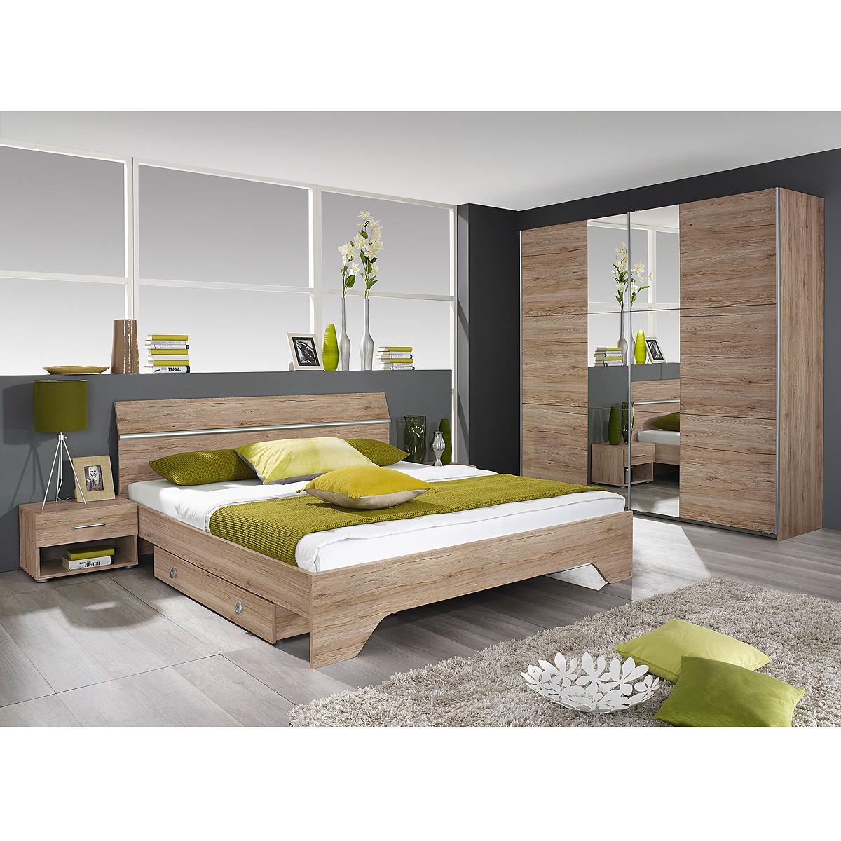 schlafzimmer fellbach schlafzimmerset bett schrank nako san remo eiche hell eur 519 95. Black Bedroom Furniture Sets. Home Design Ideas