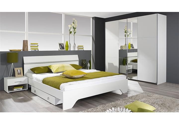 bettanlage fellbach bett nako schlafzimmerkombi schlafzimmerset in wei 160x200 ebay. Black Bedroom Furniture Sets. Home Design Ideas