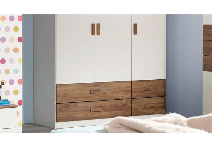 kleiderschrank susann kinderzimmerschrank schrank in wei. Black Bedroom Furniture Sets. Home Design Ideas