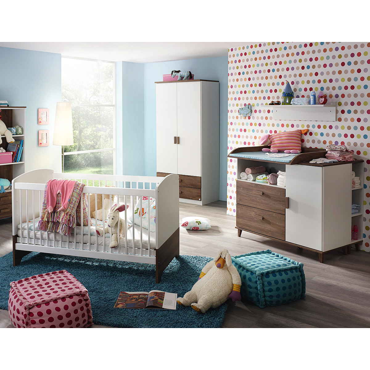 babyzimmer susann kinderzimmer schrank bett wickelkommode weiß