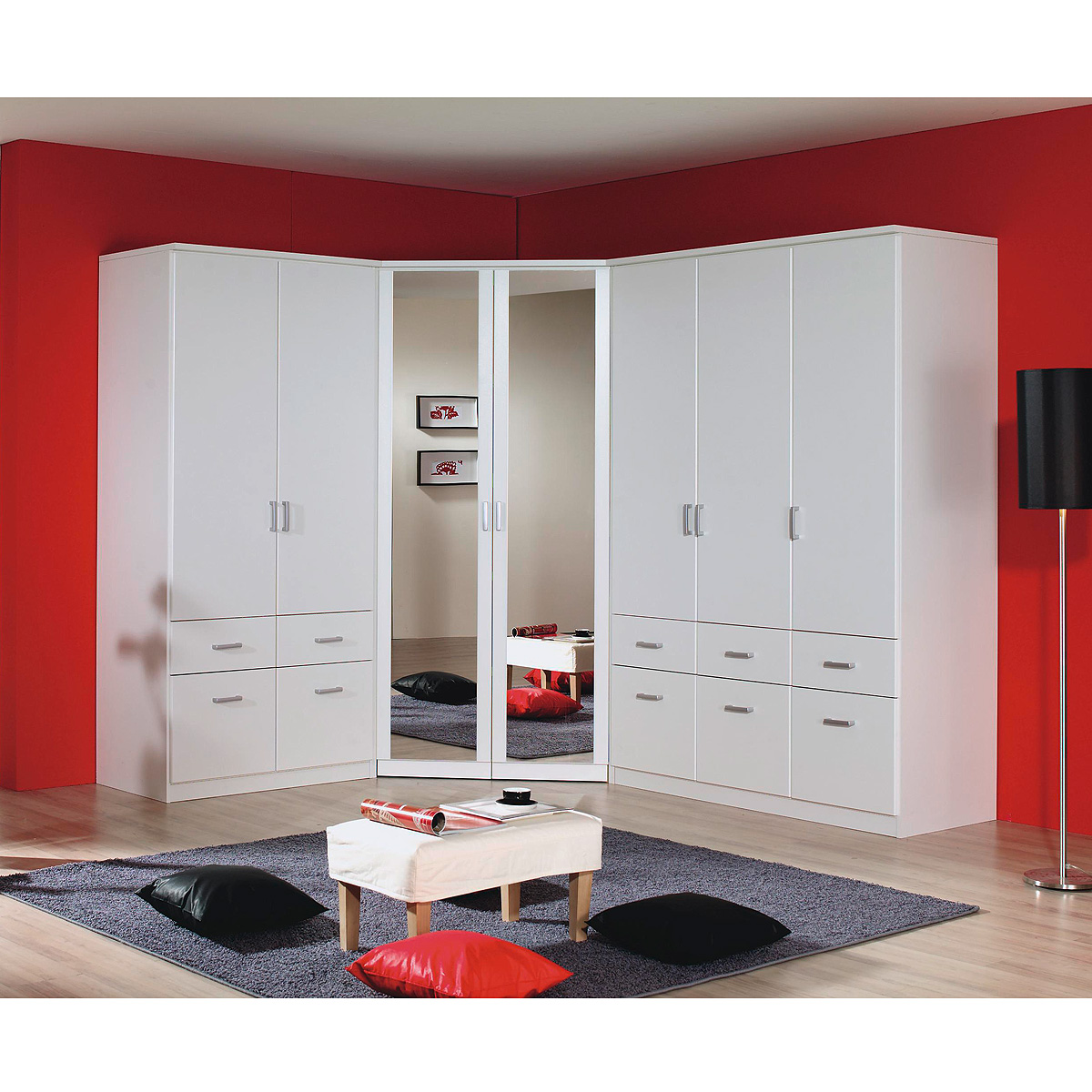 eckschrank bremen kleiderschrank w scheschrank begehbar in wei mit spiegel ebay. Black Bedroom Furniture Sets. Home Design Ideas
