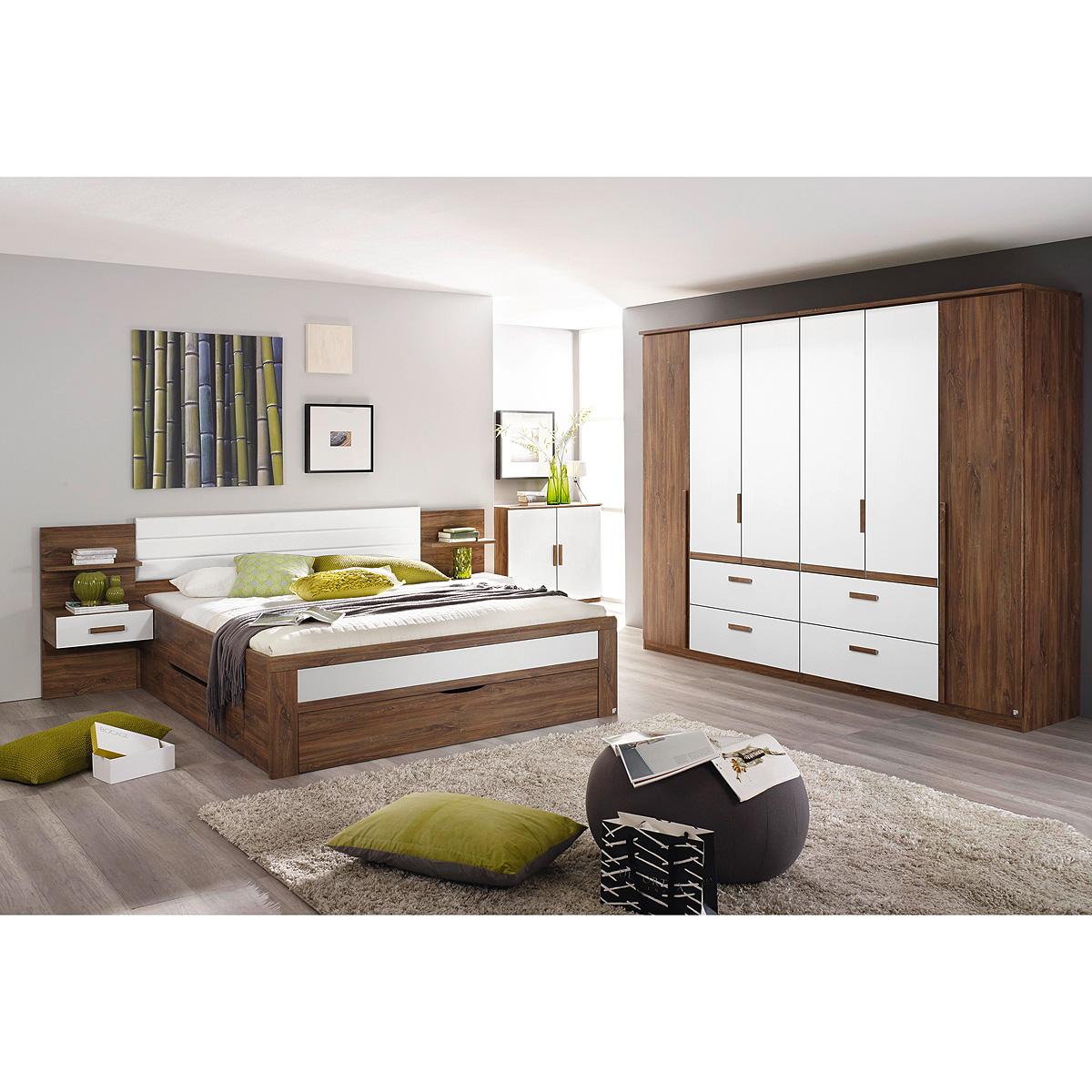 Schlafzimmer Set Bernau Bett Nako Kleiderschrank Eiche Stirling ...