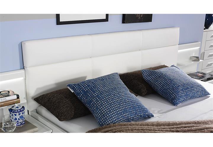 Bett Friedberg Schlafzimmerbett Doppelbett in weiß mit Stauraum ...