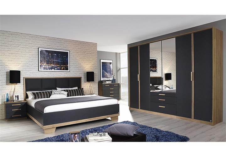 schlafzimmer set 2 altona bett nako kleiderschrank in fango und eiche riviera eur. Black Bedroom Furniture Sets. Home Design Ideas