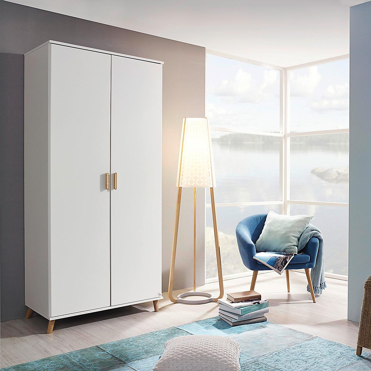 kleiderschrank falun kinderzimmerschrank schrank in wei und esche coimbra 92 cm ebay. Black Bedroom Furniture Sets. Home Design Ideas