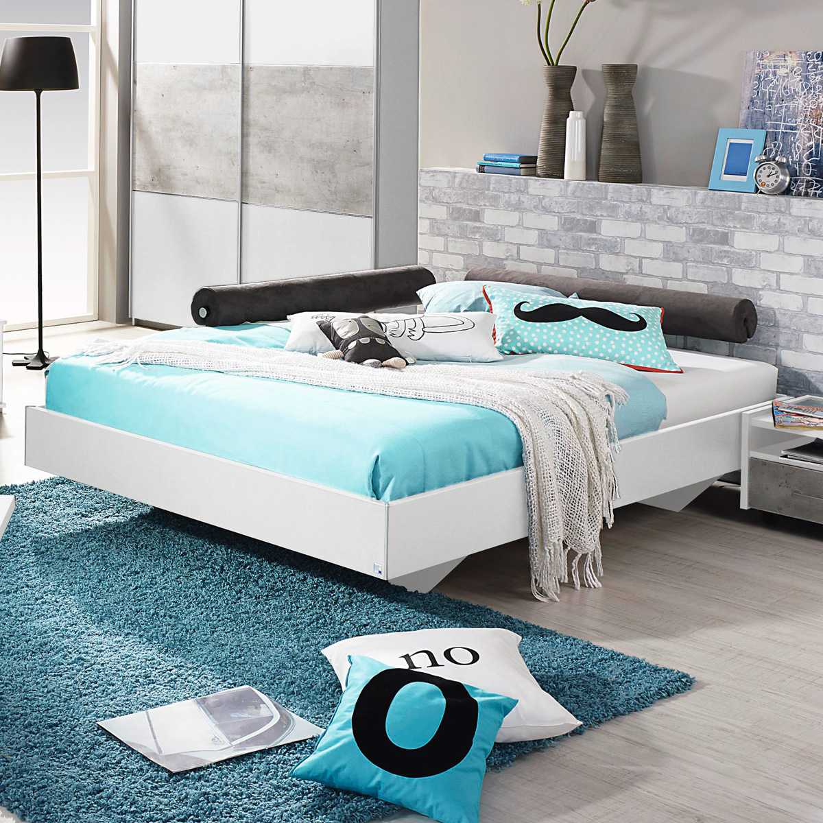 bett milo futonbett bettgestell liege f r jugendzimmer in wei 120x200 ebay. Black Bedroom Furniture Sets. Home Design Ideas